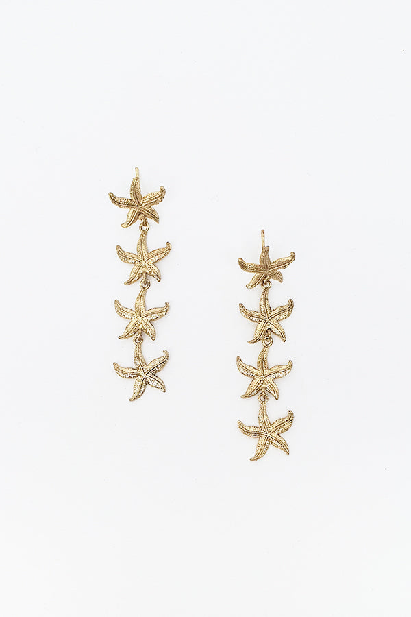 Lena Star Gold Earring - Blue Bungalow