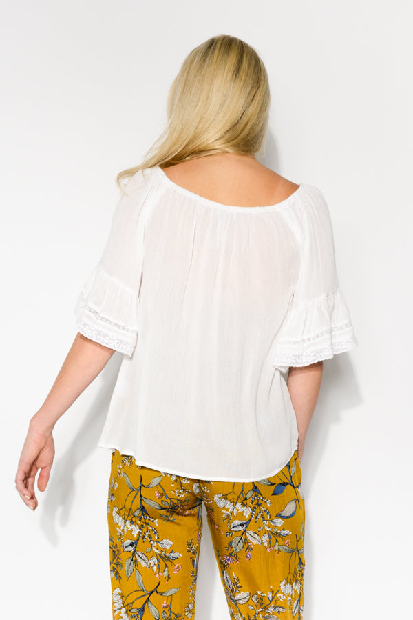 Blair White Off Shoulder Top