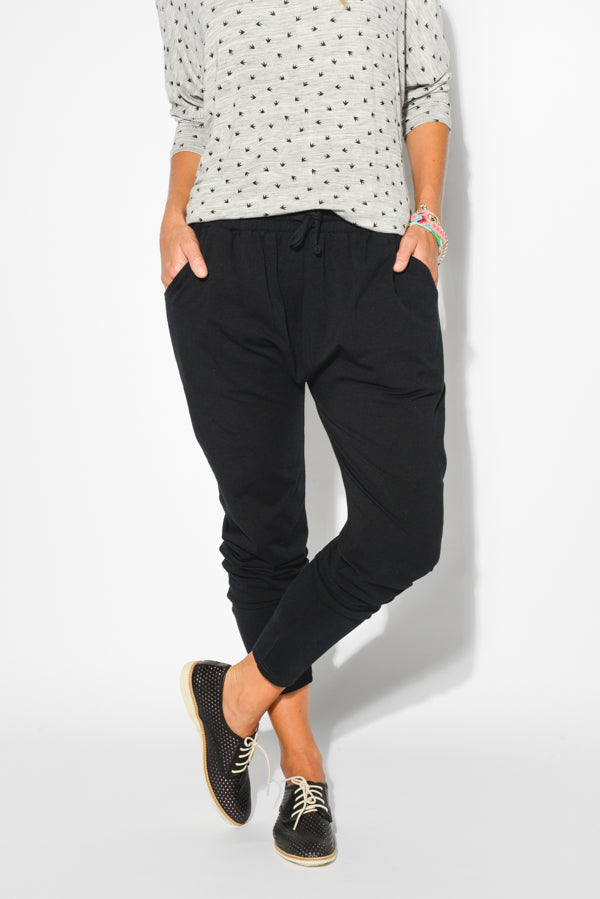 Black Ella Cotton  Pant - Blue Bungalow