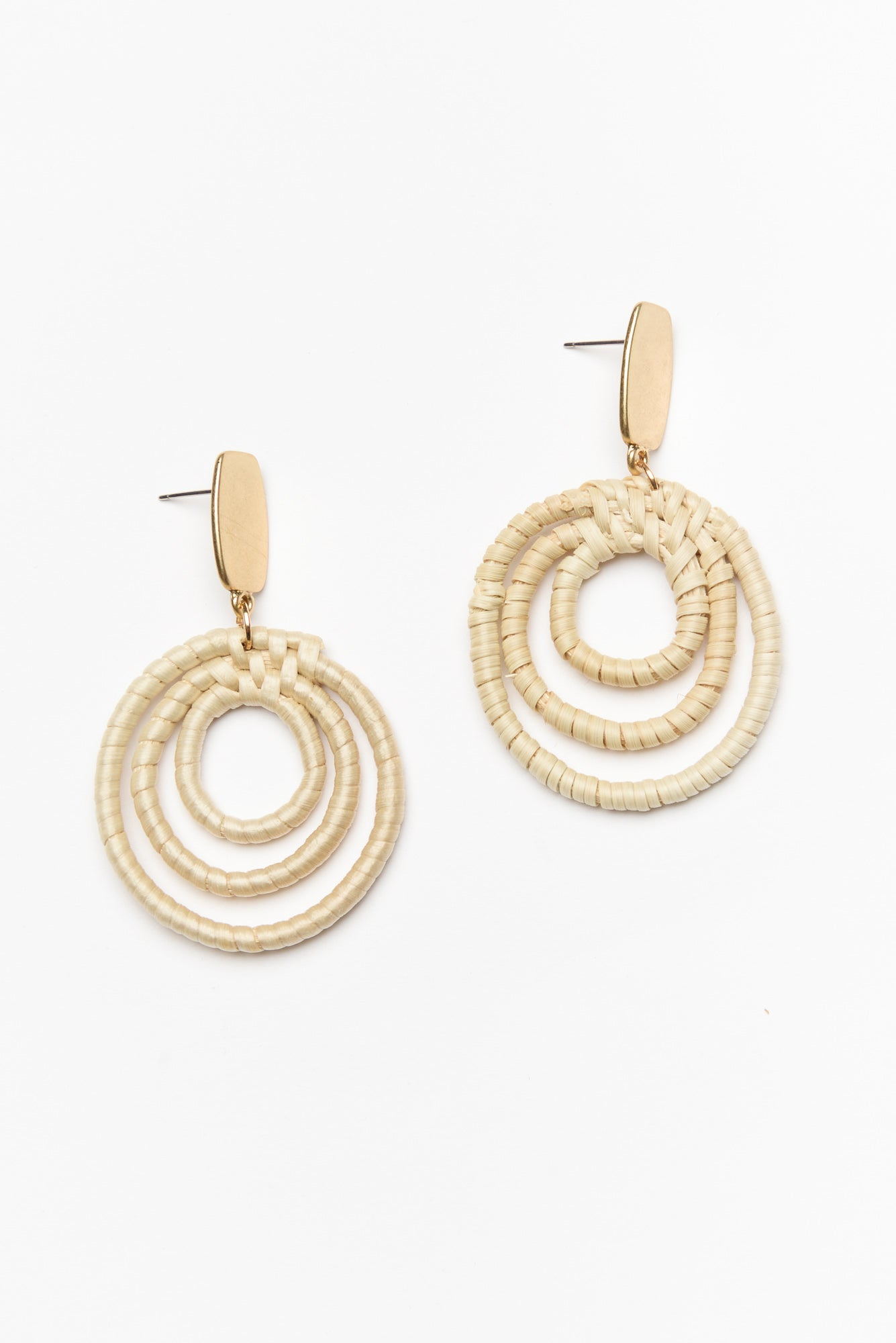 Levera Natural Woven Earring