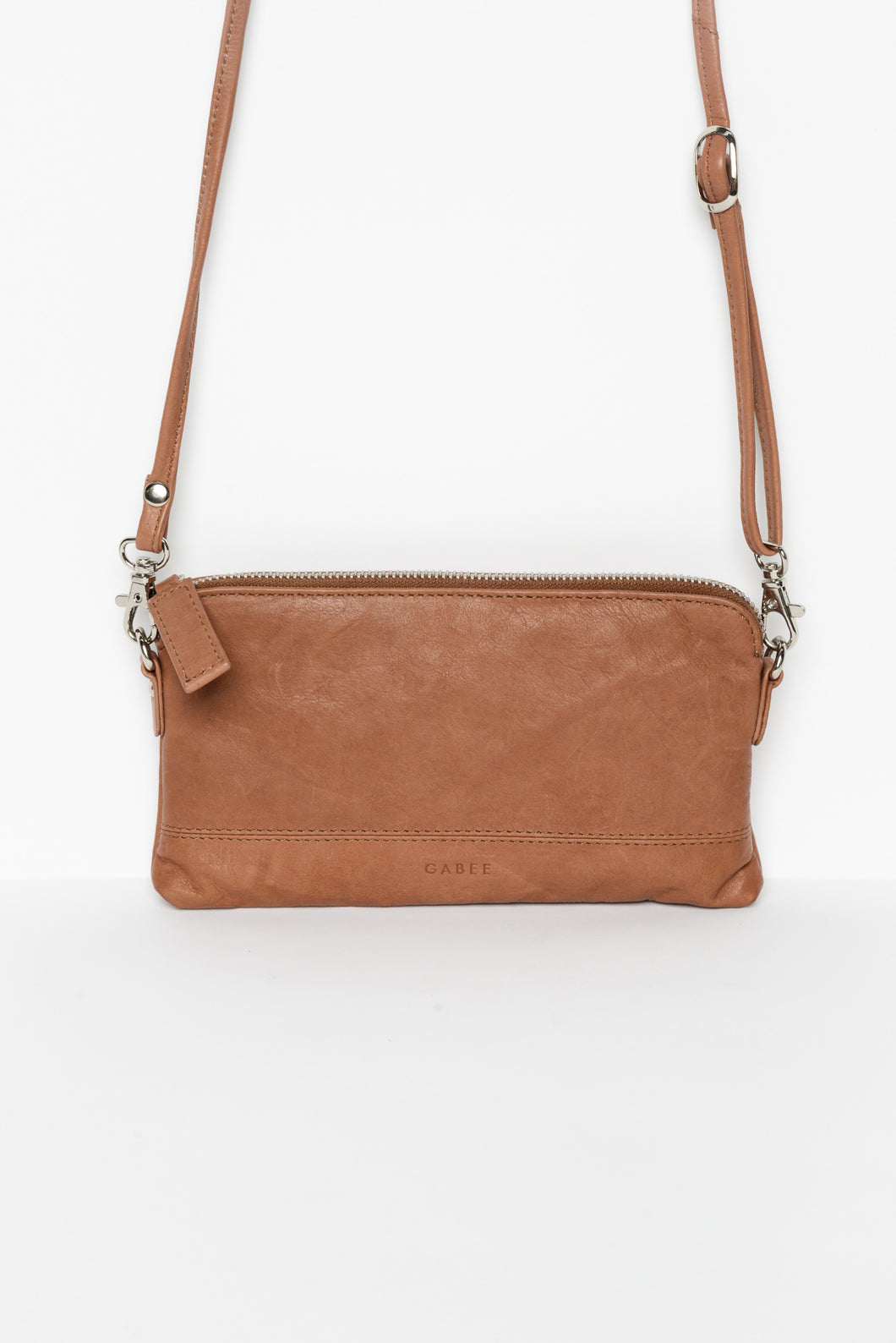 Kara Brown Leather Clutch - Blue Bungalow