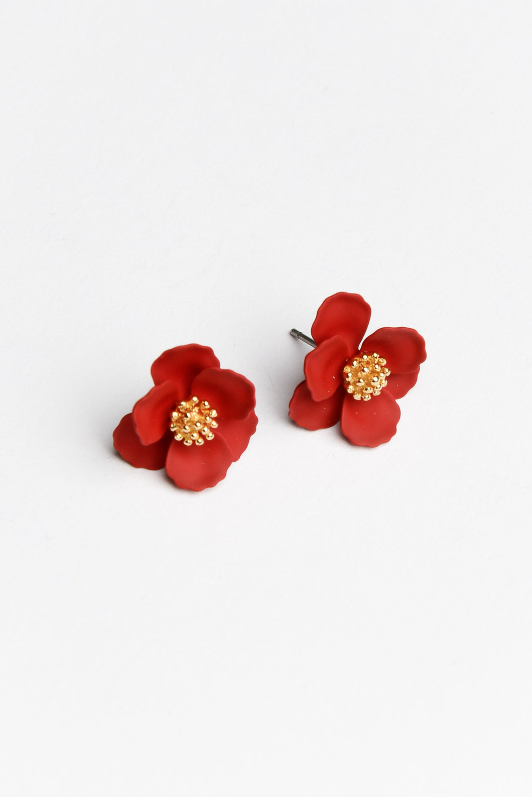 Poppy Red Stud Earring - Blue Bungalow