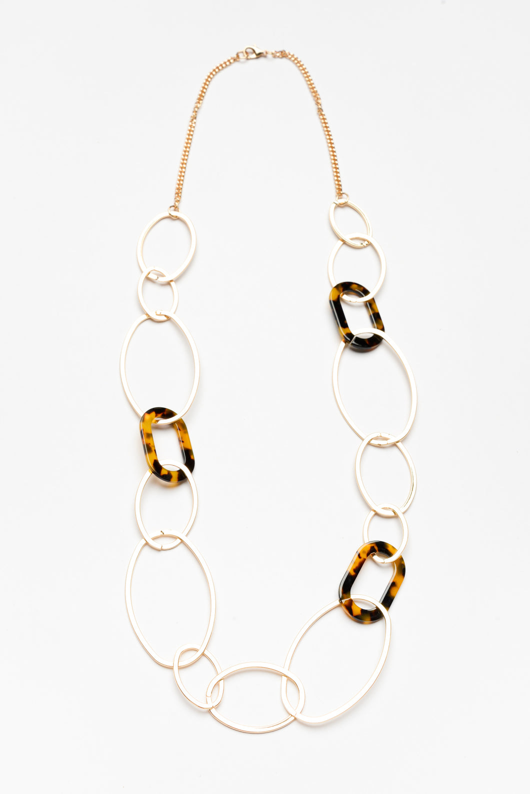 Gold and Tortoise Link Necklace - Blue Bungalow