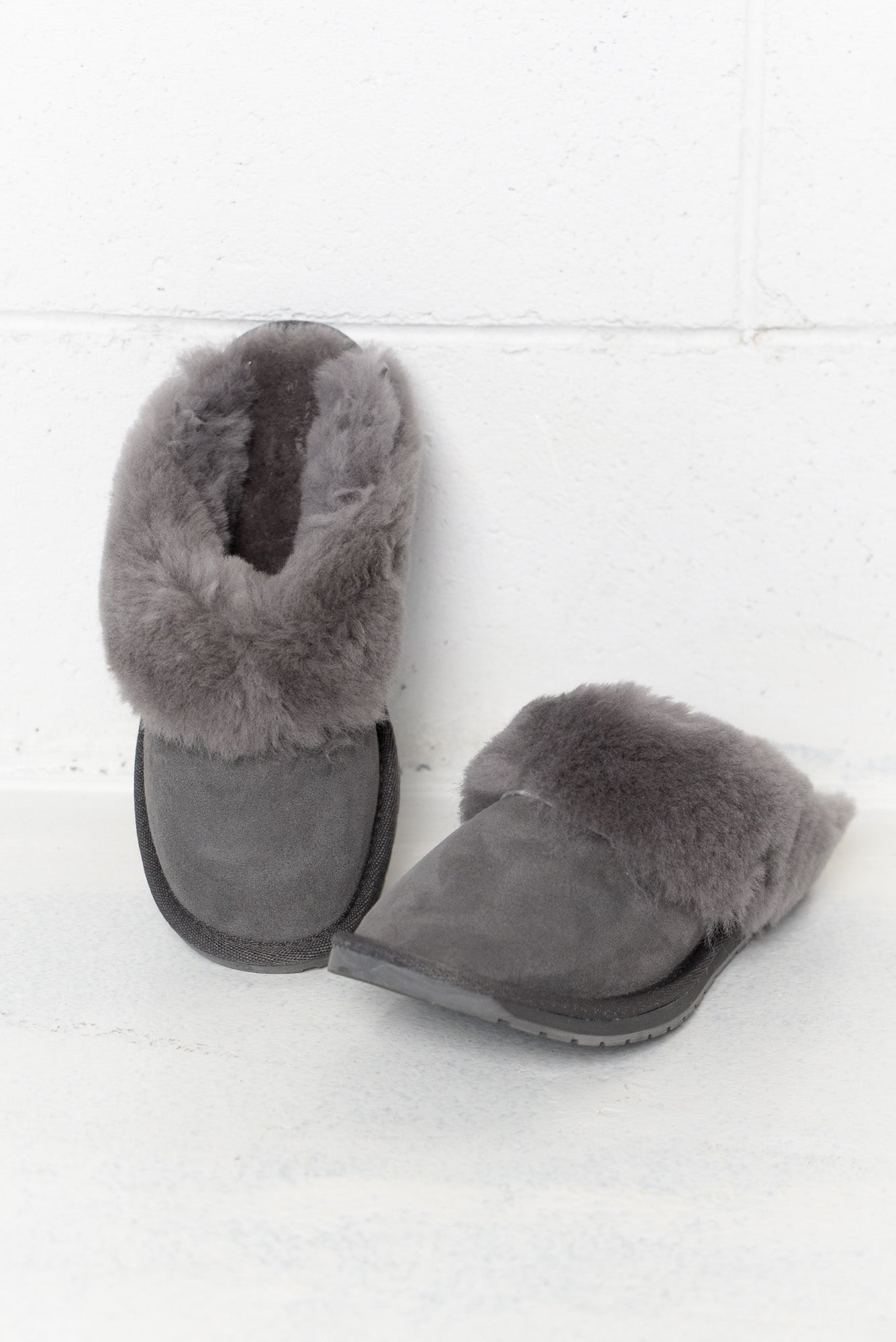 Eden Charcoal Australian Sheepskin Slipper