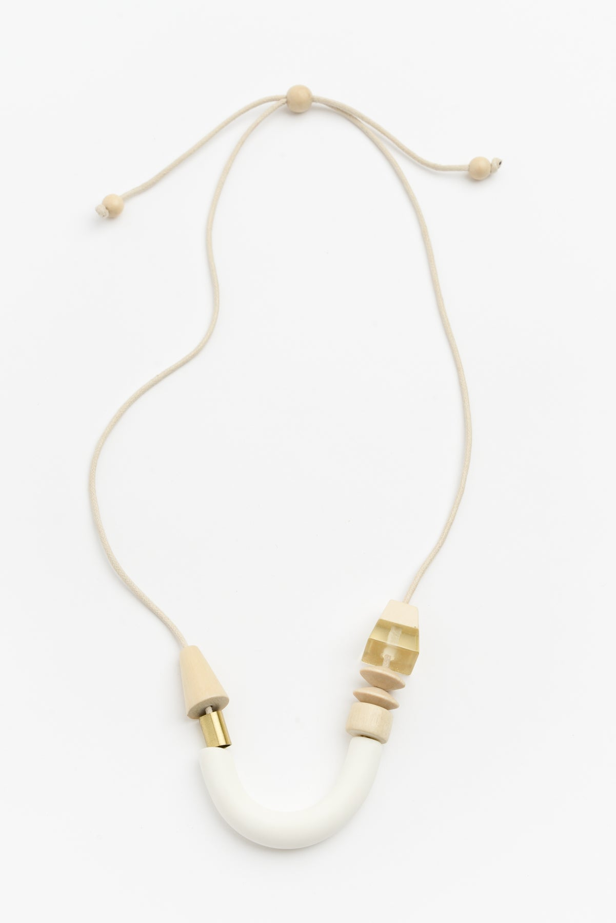 Arc Resin Neutral Timber Necklace