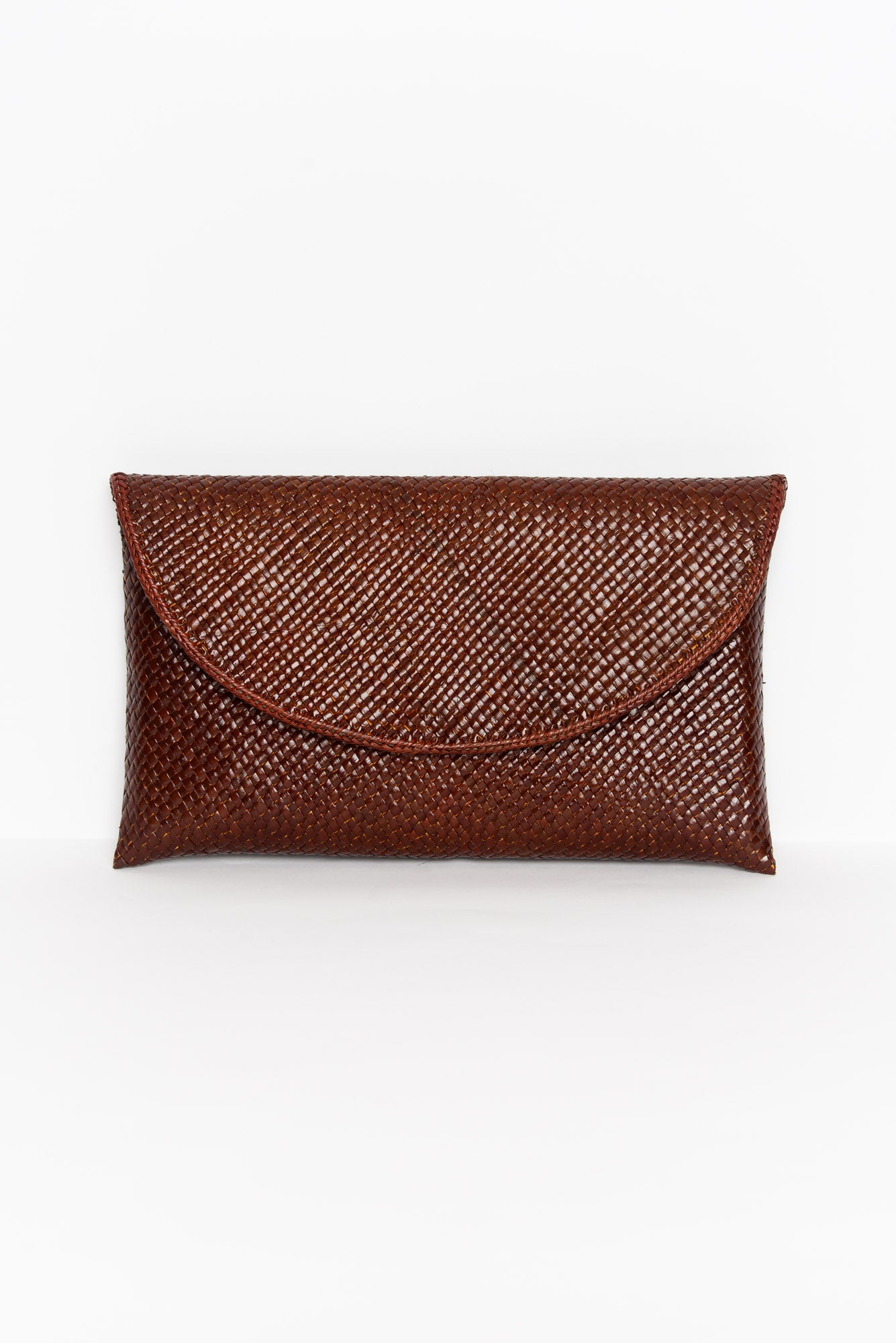 Ubud Brown Woven Clutch