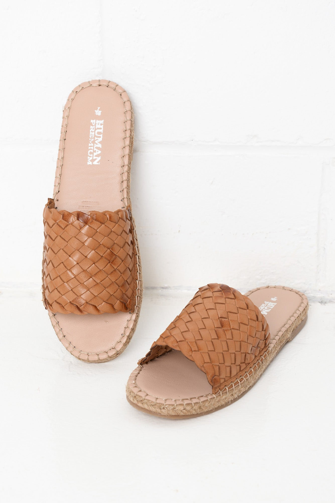Chrissy Tan Woven Leather Slide