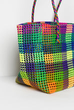 Shelly Rainbow Recycled Woven Tote - Blue Bungalow
