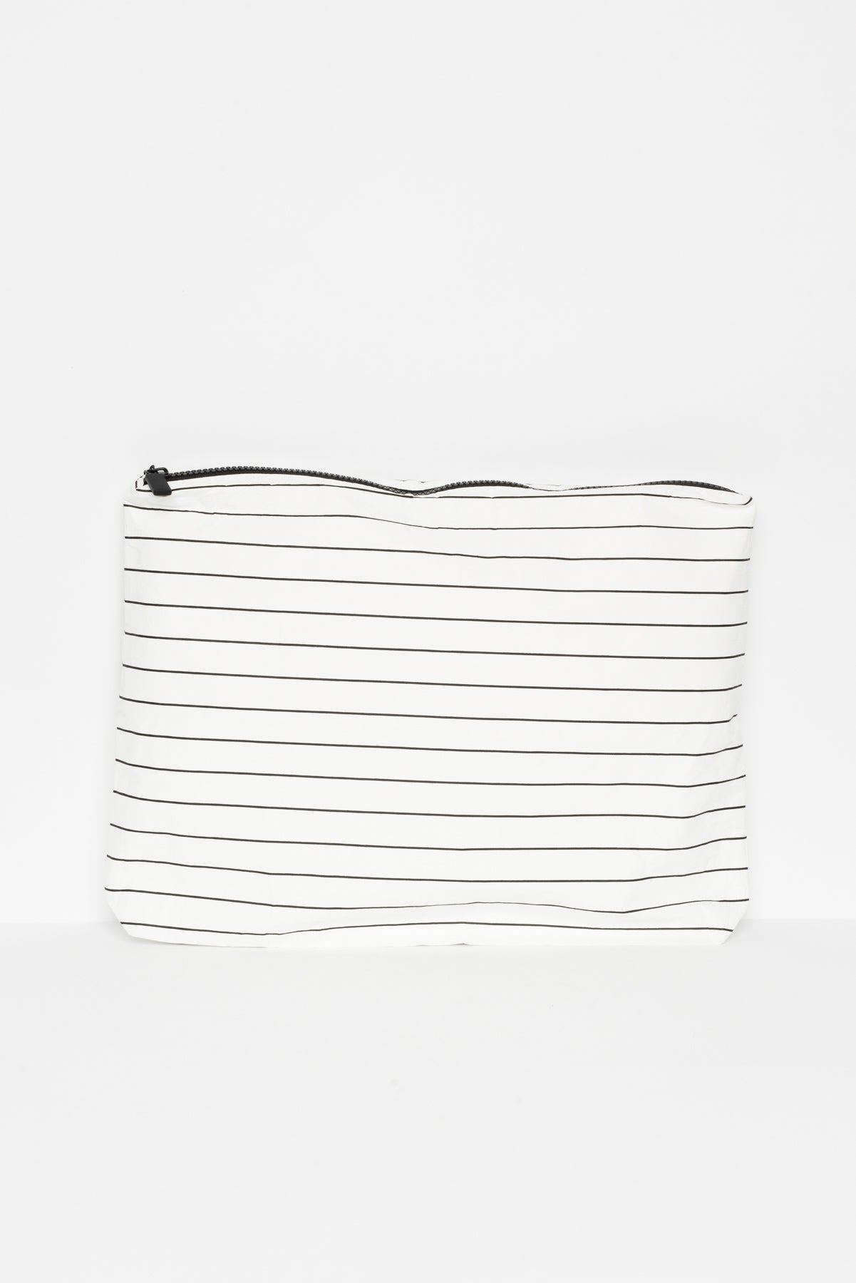 Black Stripe Splash Proof Large Pouch - Blue Bungalow