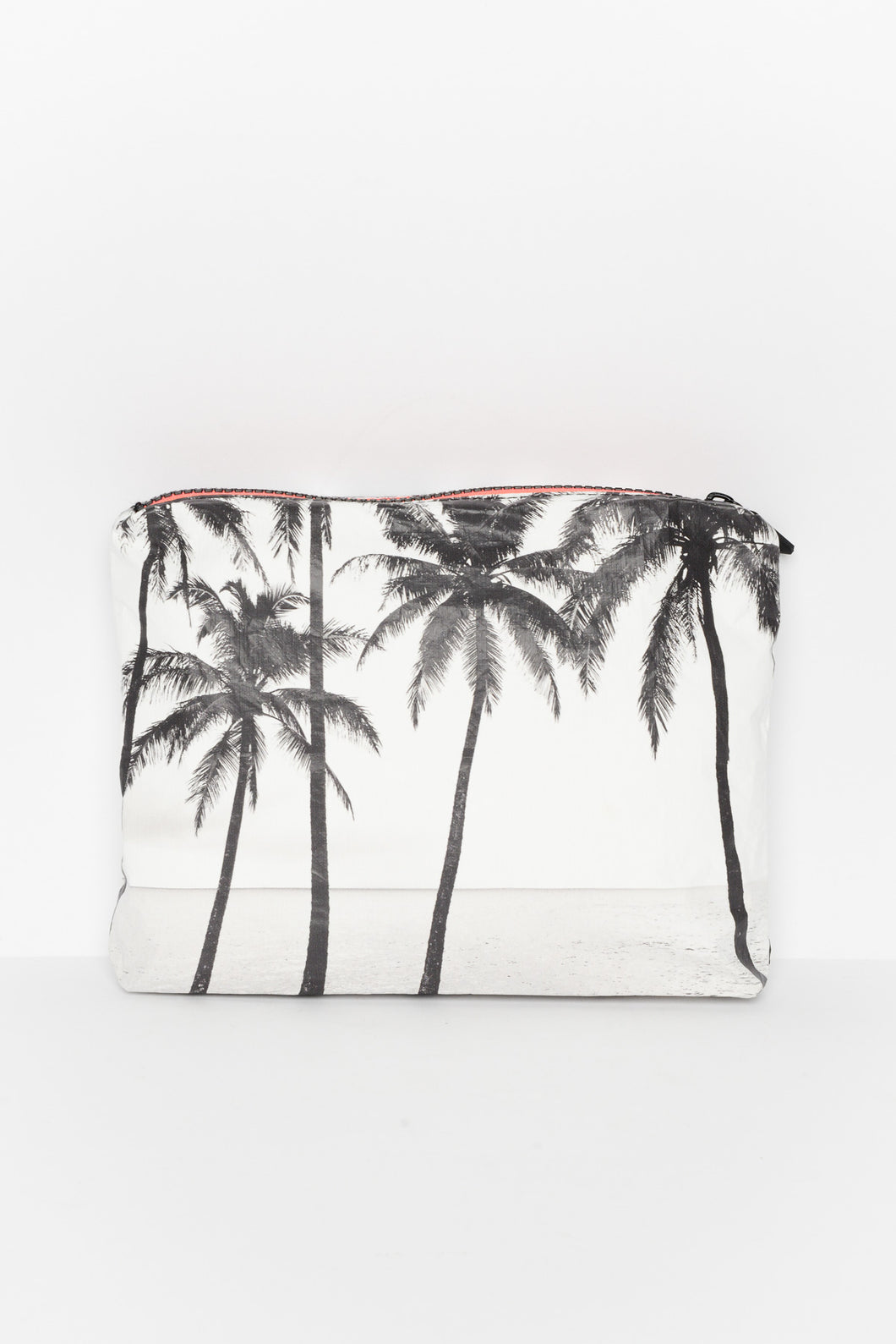 Palm Tree Splash Proof Small Pouch - Blue Bungalow