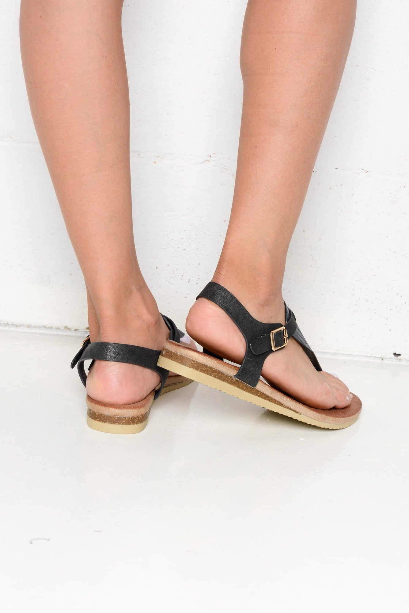 Karvy Black Sandals - Blue Bungalow