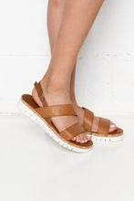 Hayman Tan Leather Sandal