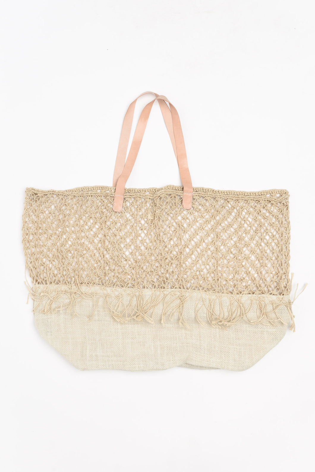 Amalfi Natural Fringe Bag