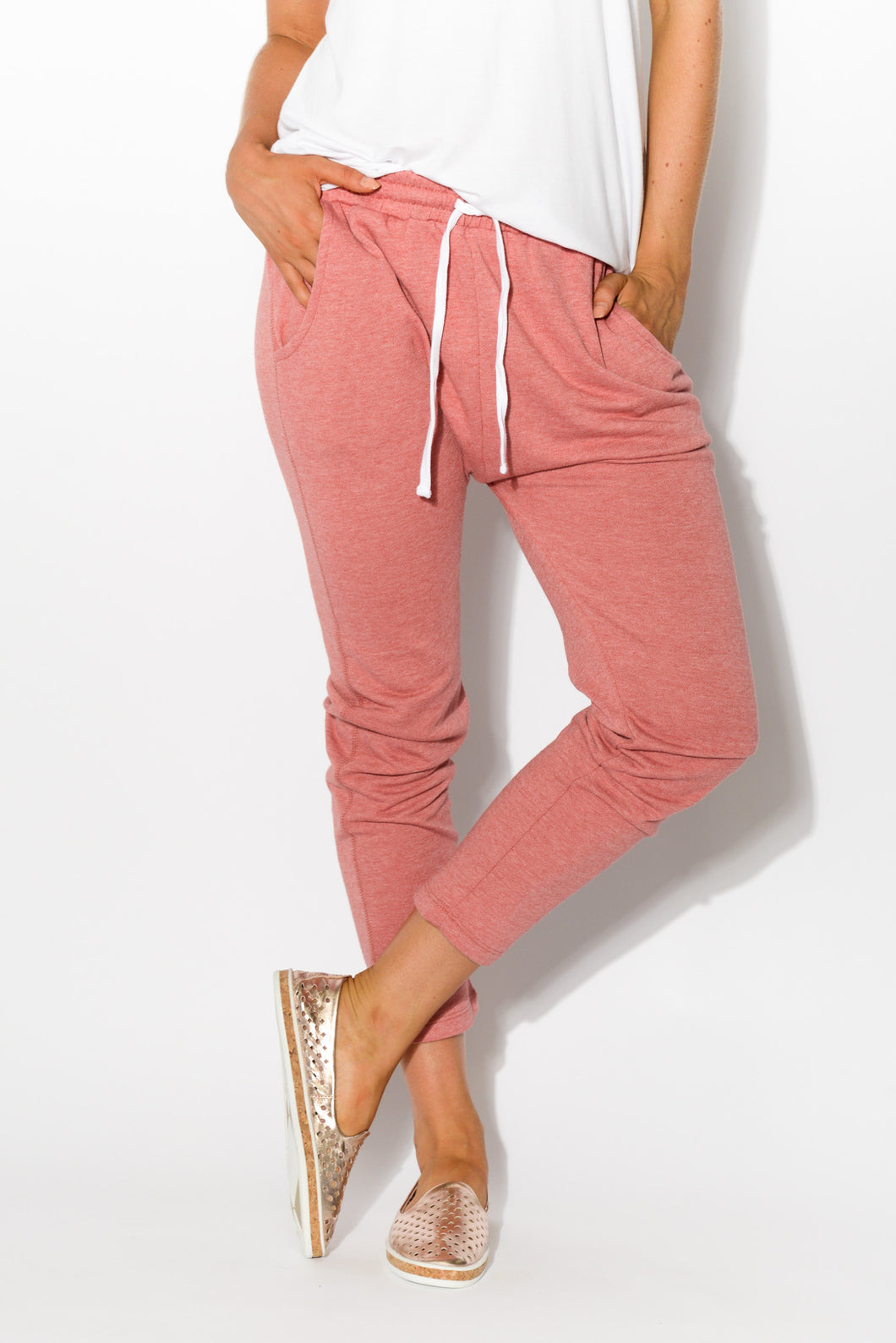 Saxon Rose Sweat Pant - Blue Bungalow