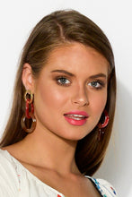 Multi Coral Resin Linked Earring - Blue Bungalow