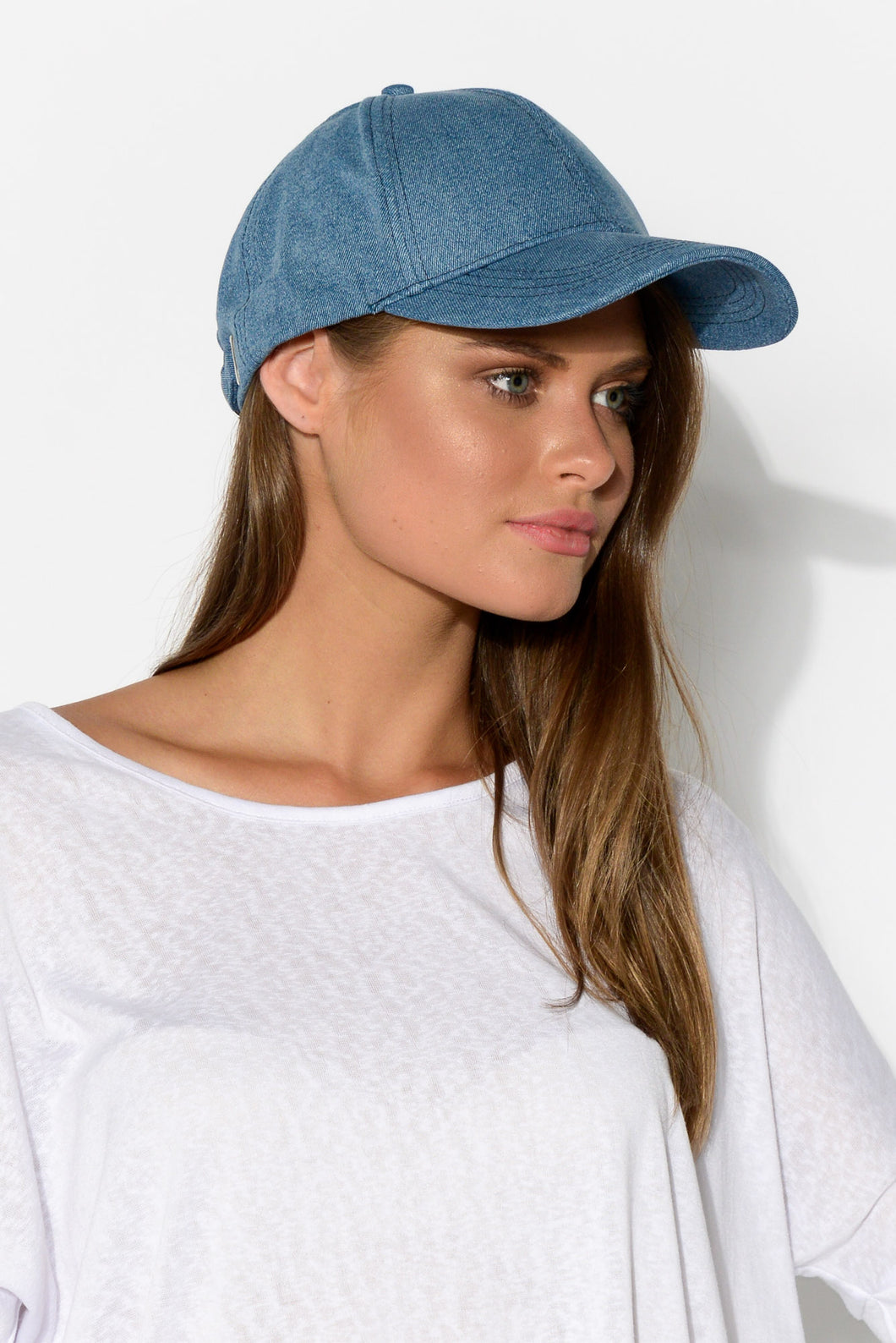 Seth Blue Denim Cap - Blue Bungalow