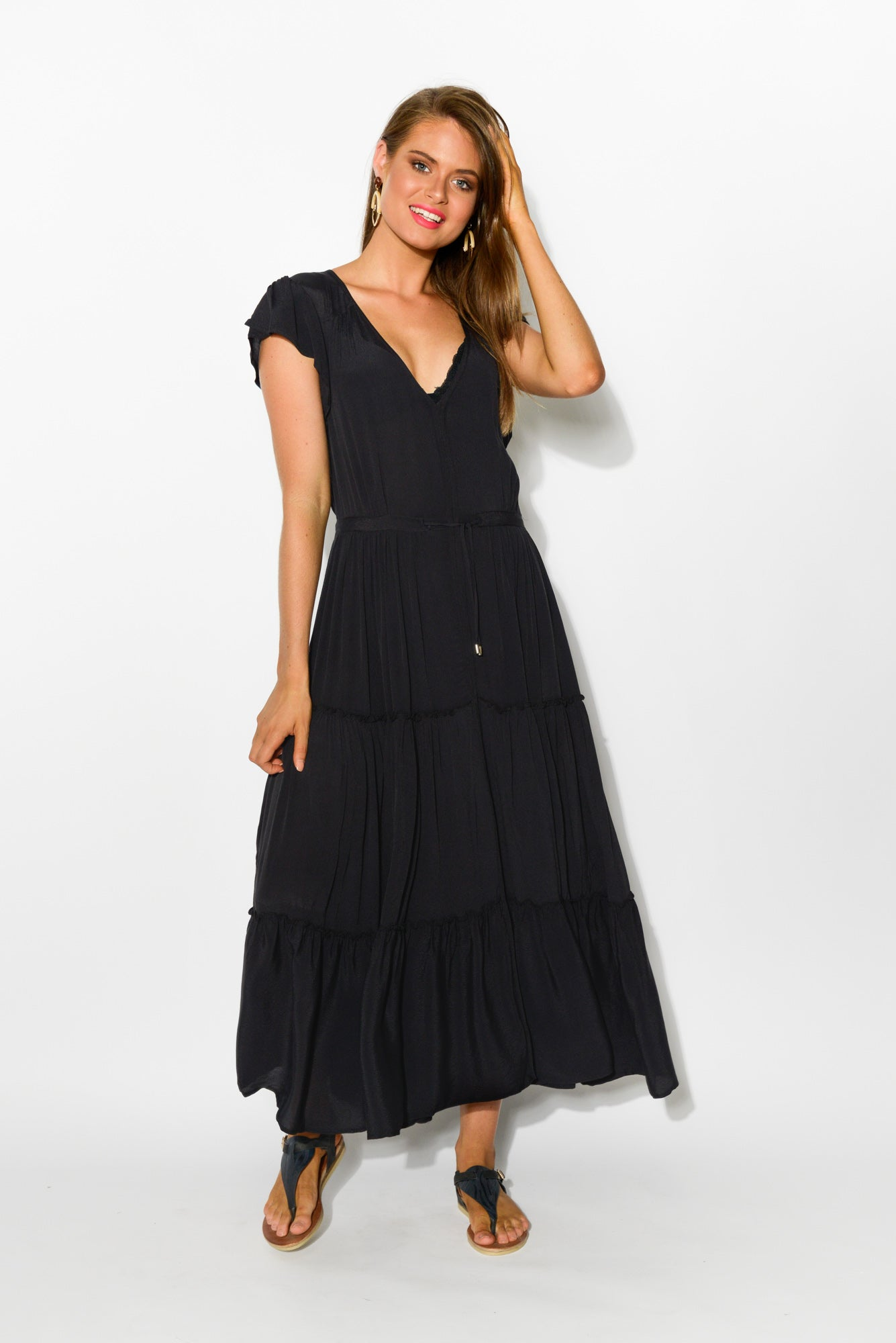 Sundown Black Maxi Dress - Blue Bungalow