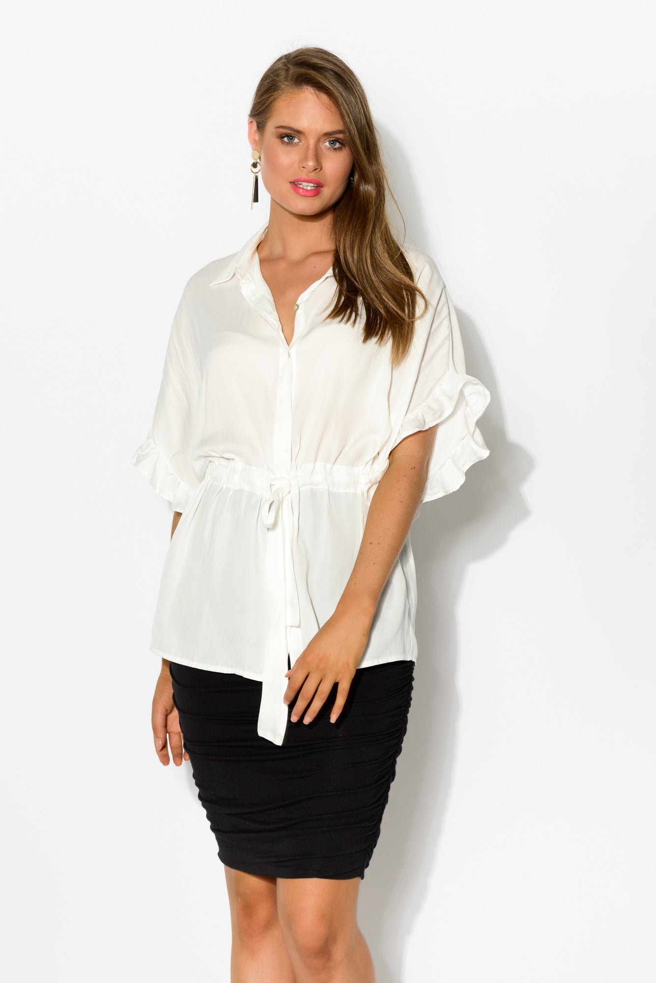 Lavie White Button Down Shirt - Blue Bungalow