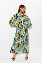 Dominique Willow Crinkle Maxi Dress - Blue Bungalow