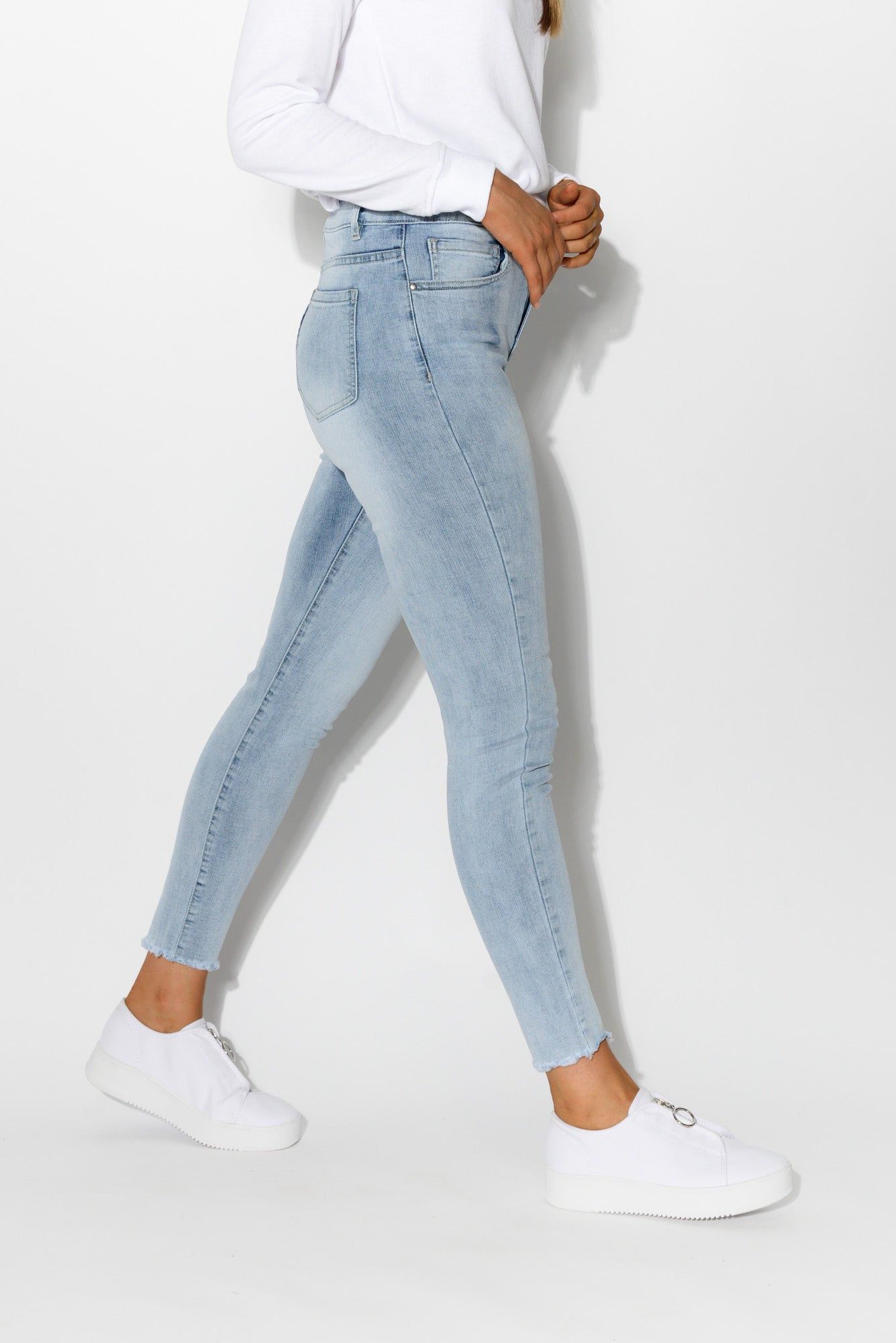 Bowie Light Denim Skinny Jean - Blue Bungalow