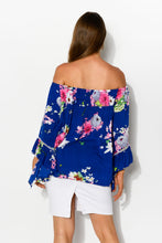 Navy Sakura Amal Top - Blue Bungalow