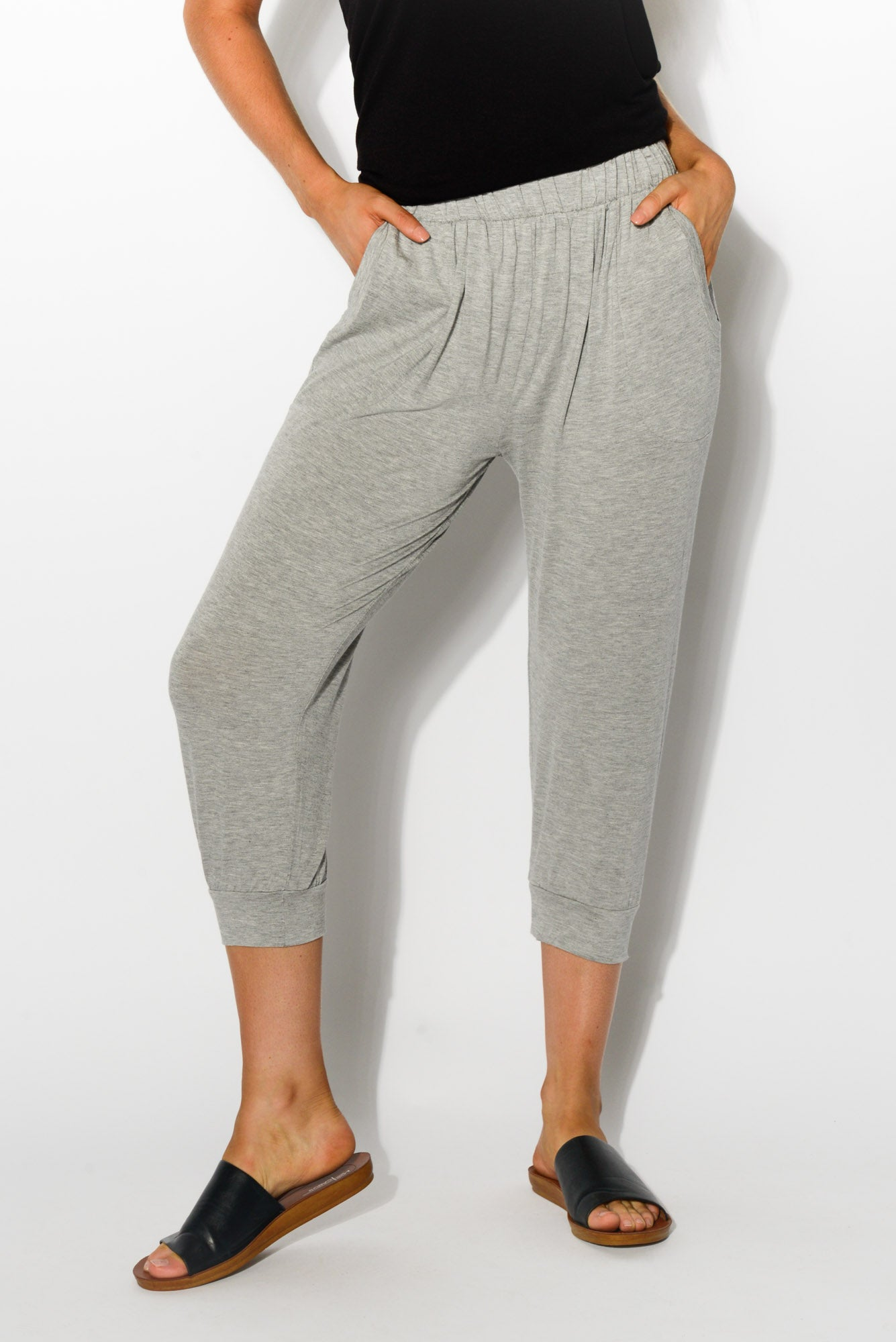 Silver Tokyo Slouch Pants