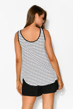 Black Stripe Boston Singlet Top