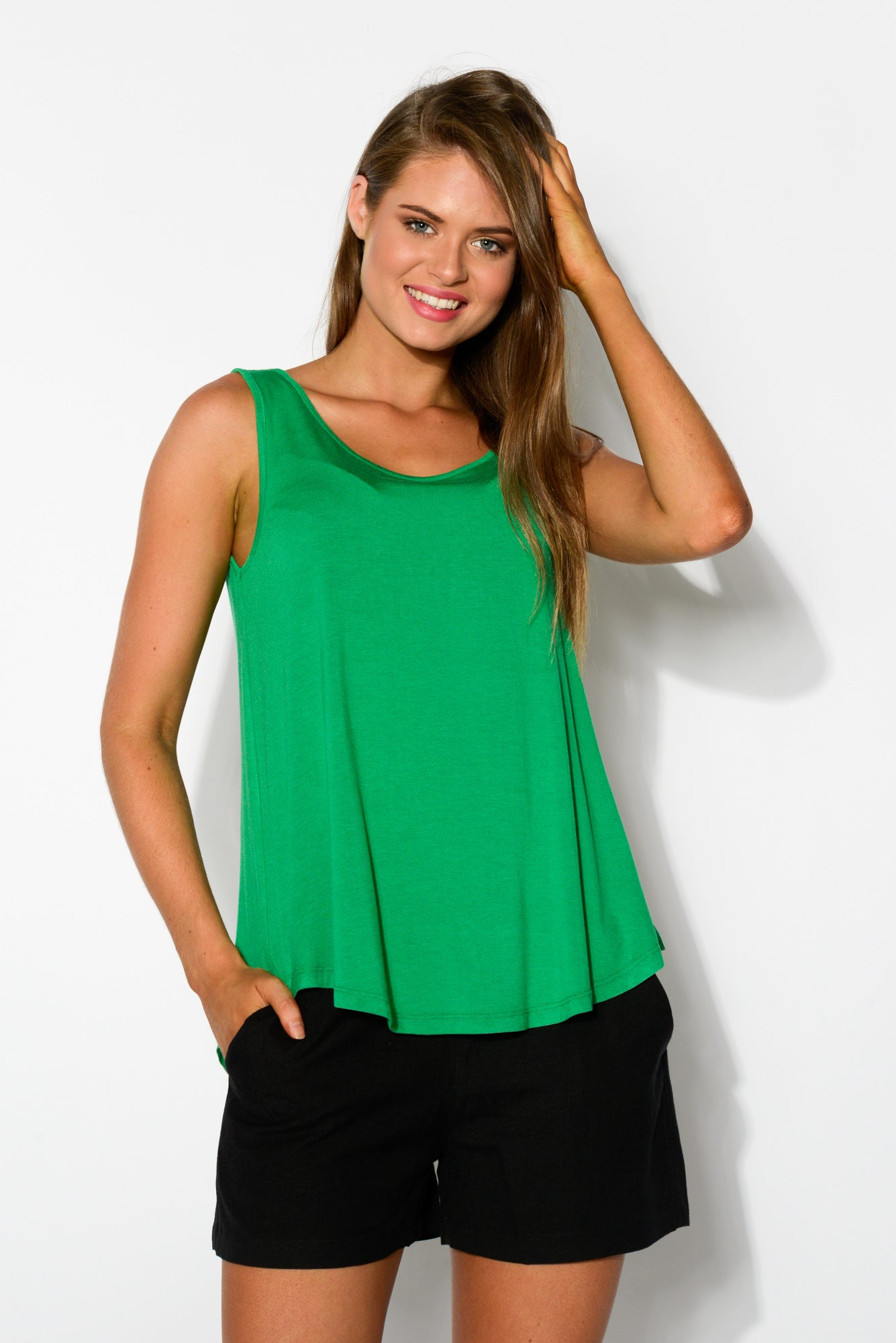 Green Boston Singlet Top