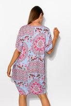 PRE ORDER Blue Iris Drape Tee Dress