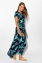 Daintree Leaf Maxi Dress - Blue Bungalow