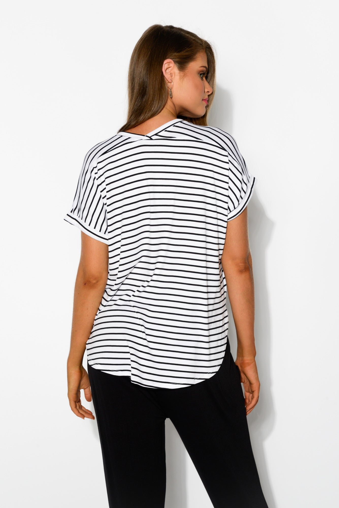 Black Stripe Adelaide Tee - Blue Bungalow