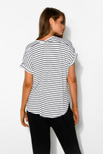 Black Stripe Adelaide Tee