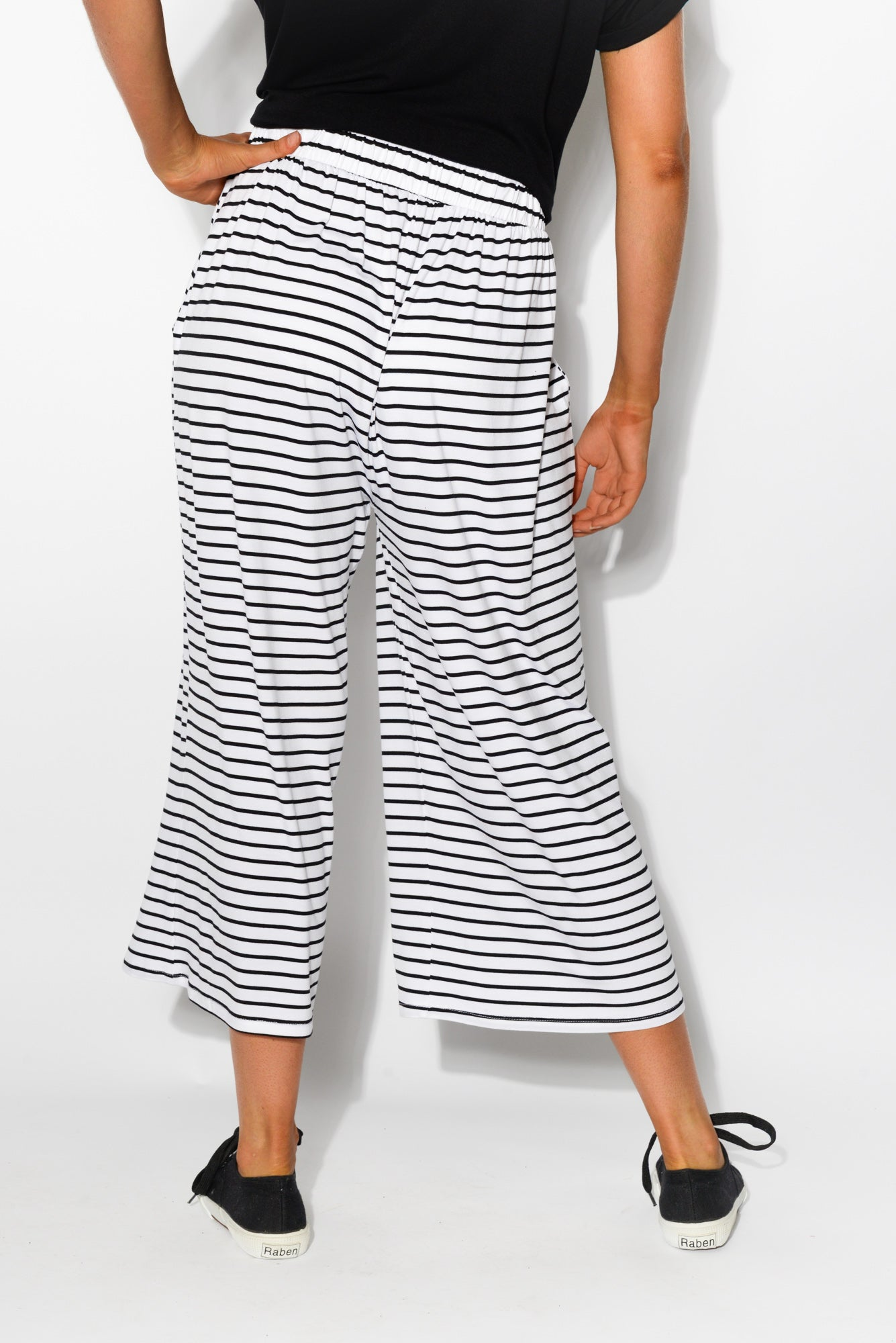 Dublin Black Stripe Cropped Pant