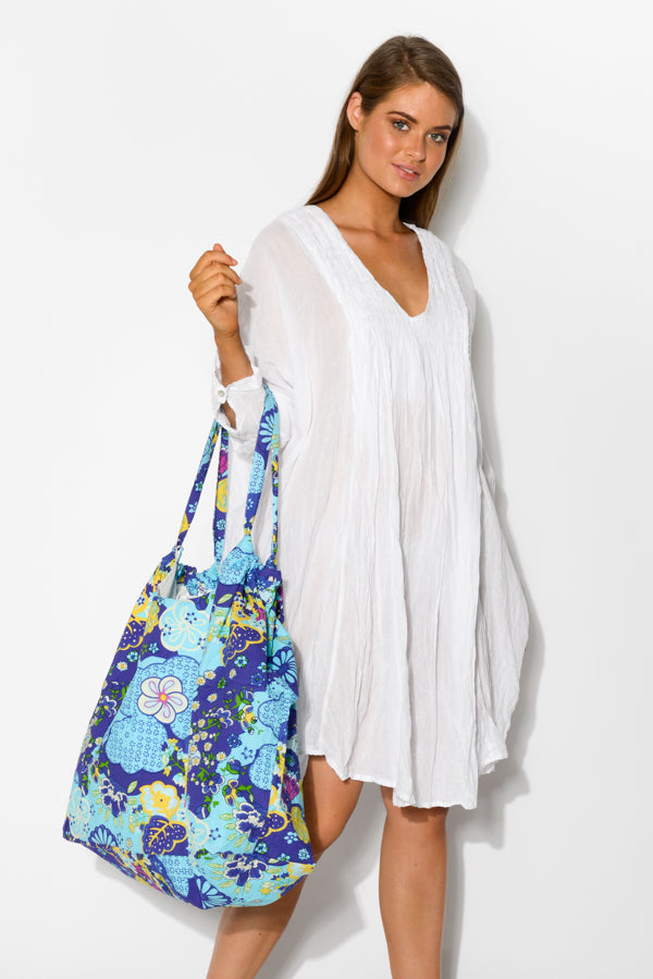 Blue Gardens Extra Large Tote - Blue Bungalow