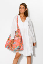 Coral Gardens Extra Large Tote Bag - Blue Bungalow