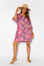 Aviana Pink Cotton Kaftan - Blue Bungalow