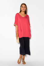 Emory Pink Sequin Bamboo Batwing Top - Blue Bungalow