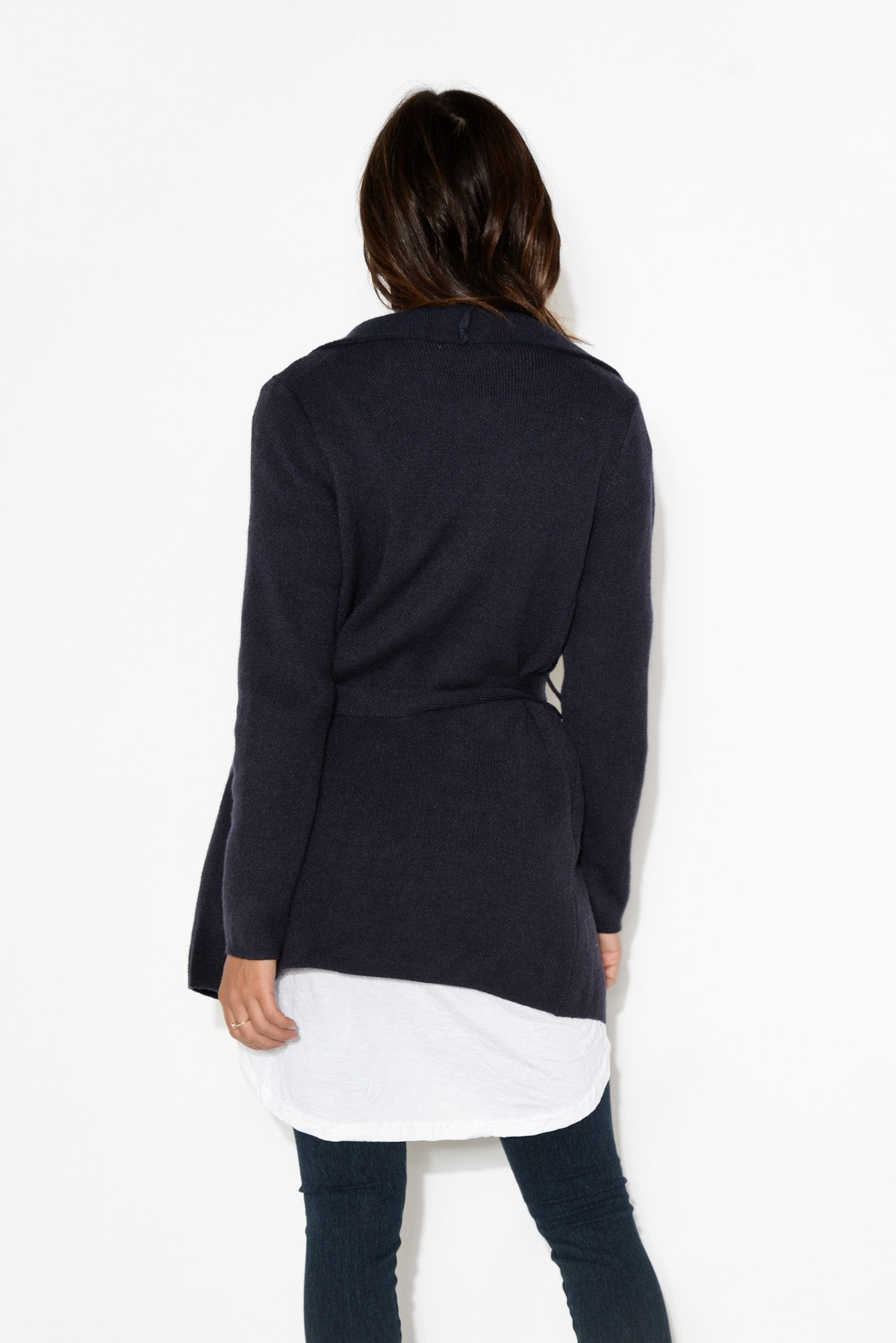 Abby Navy Knit Cardigan