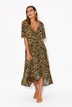 Ada Dark Leopard Gather Dress