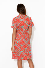 Adrielle Red Cotton Tee Dress