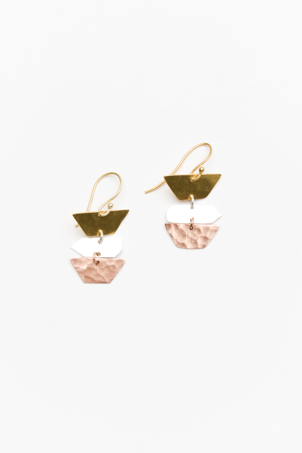 Alex Mixed Metal Tiered Earring