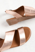 Alex Rose Gold Leather Wedge Sandal