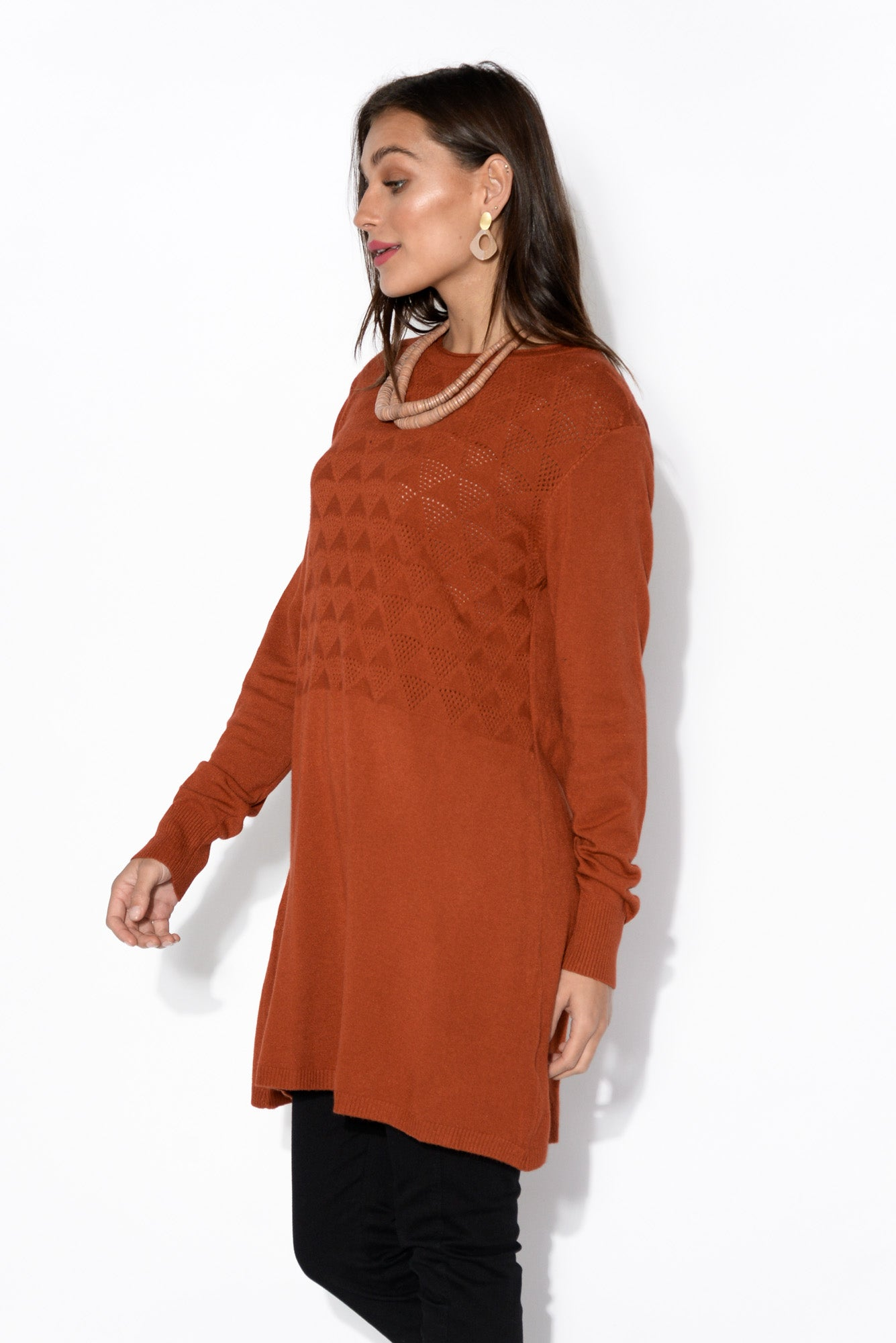 Alex Rust Knit Tunic