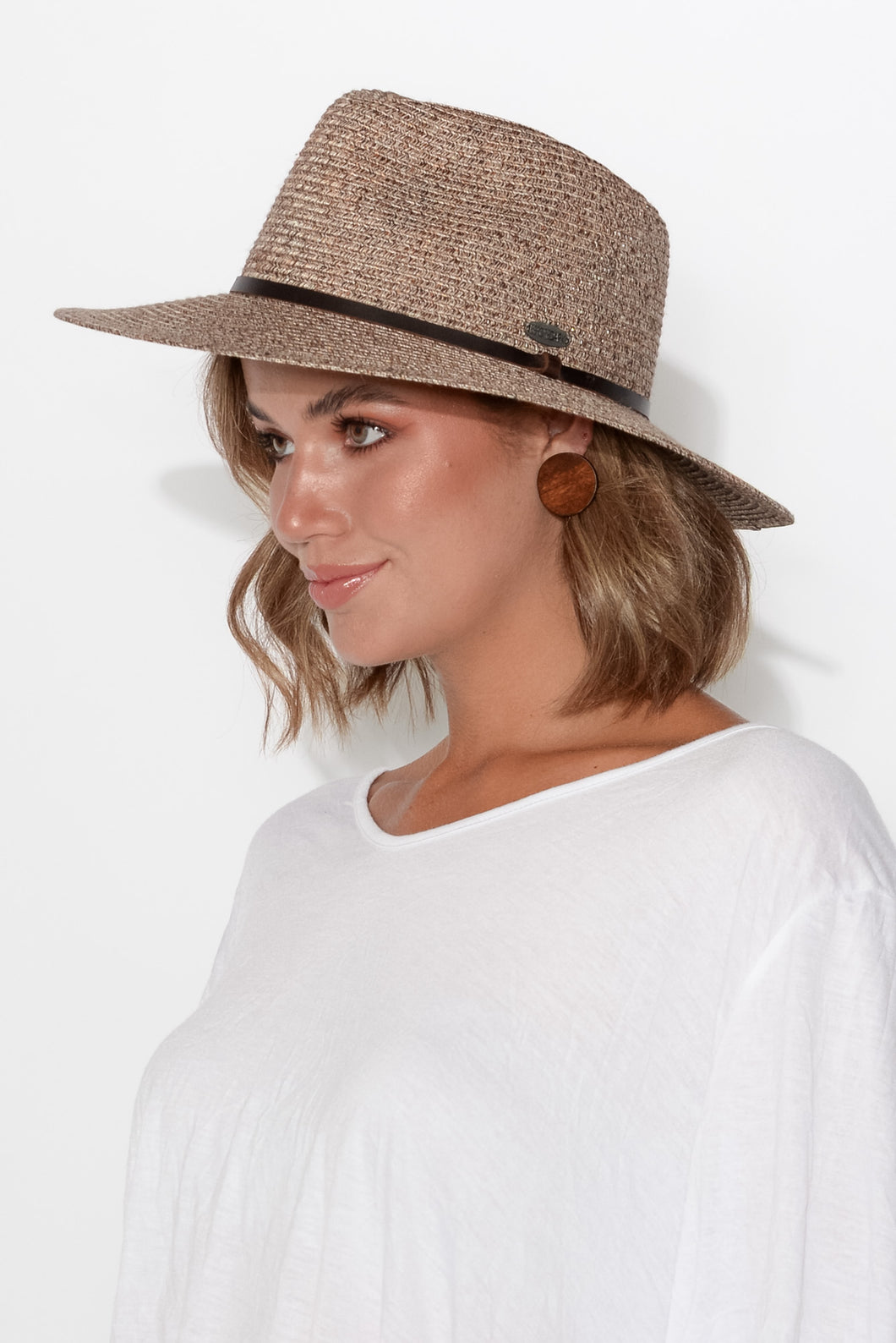 Alice Walnut Travel Fedora