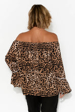 Alisha Tan Leopard Off Shoulder Top