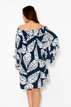 Amy Navy Leaf Dress