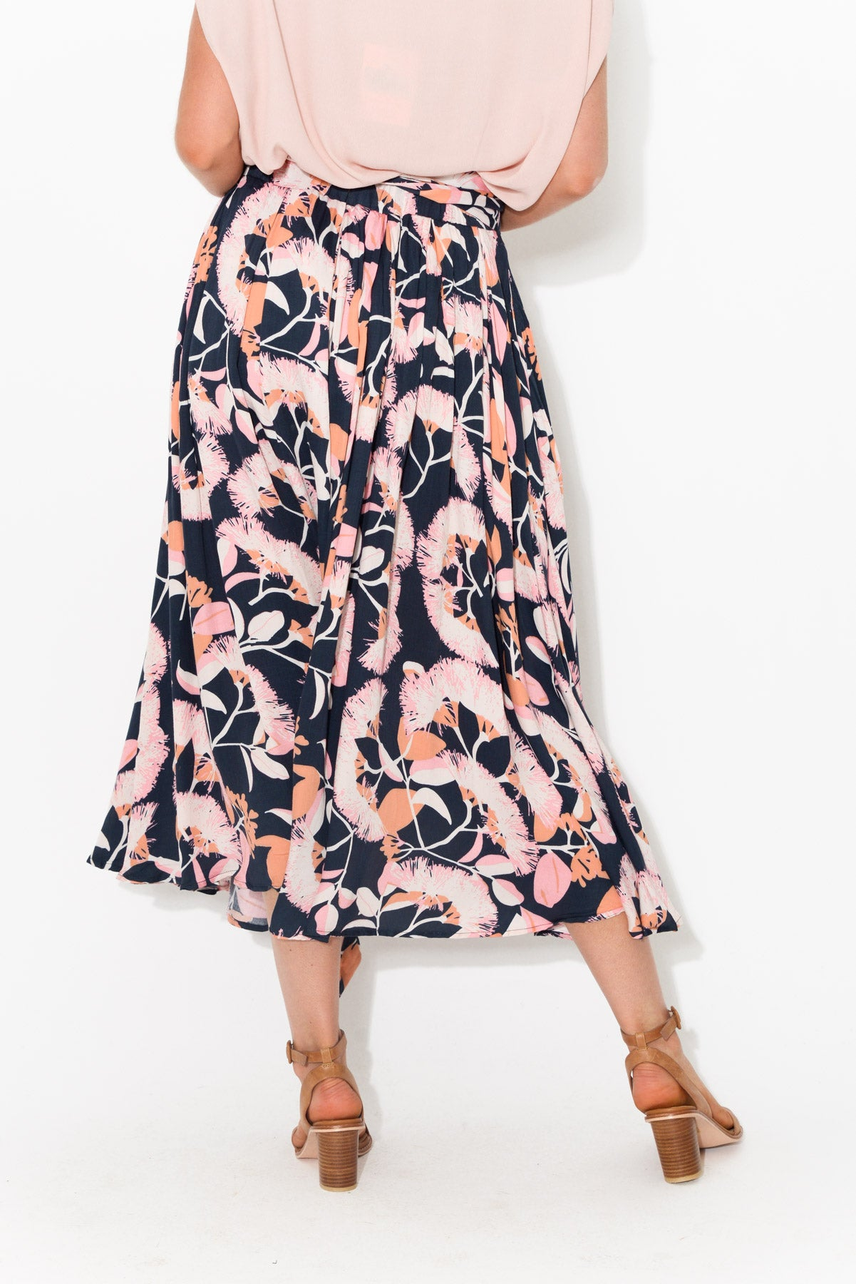 Angie Navy Floral Maxi Skirt - Blue Bungalow