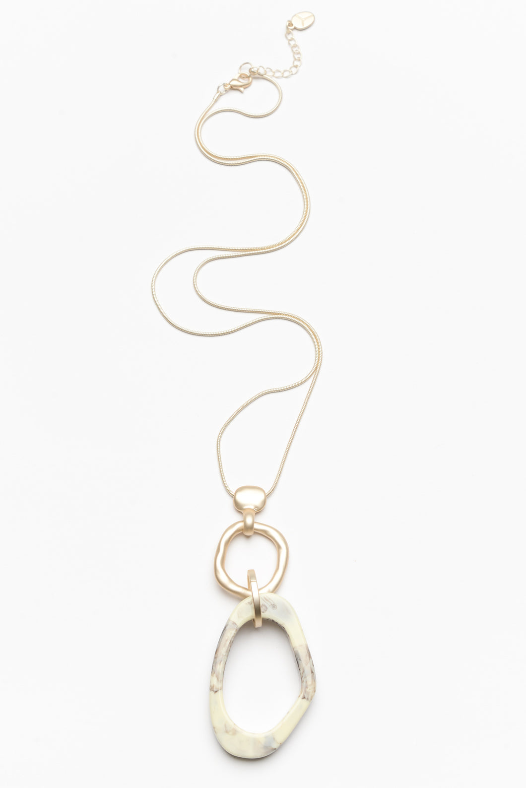 Anna Triple Drop Geometric Shaped Necklace