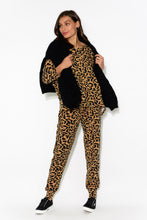 Apollo Leopard Split Back Top