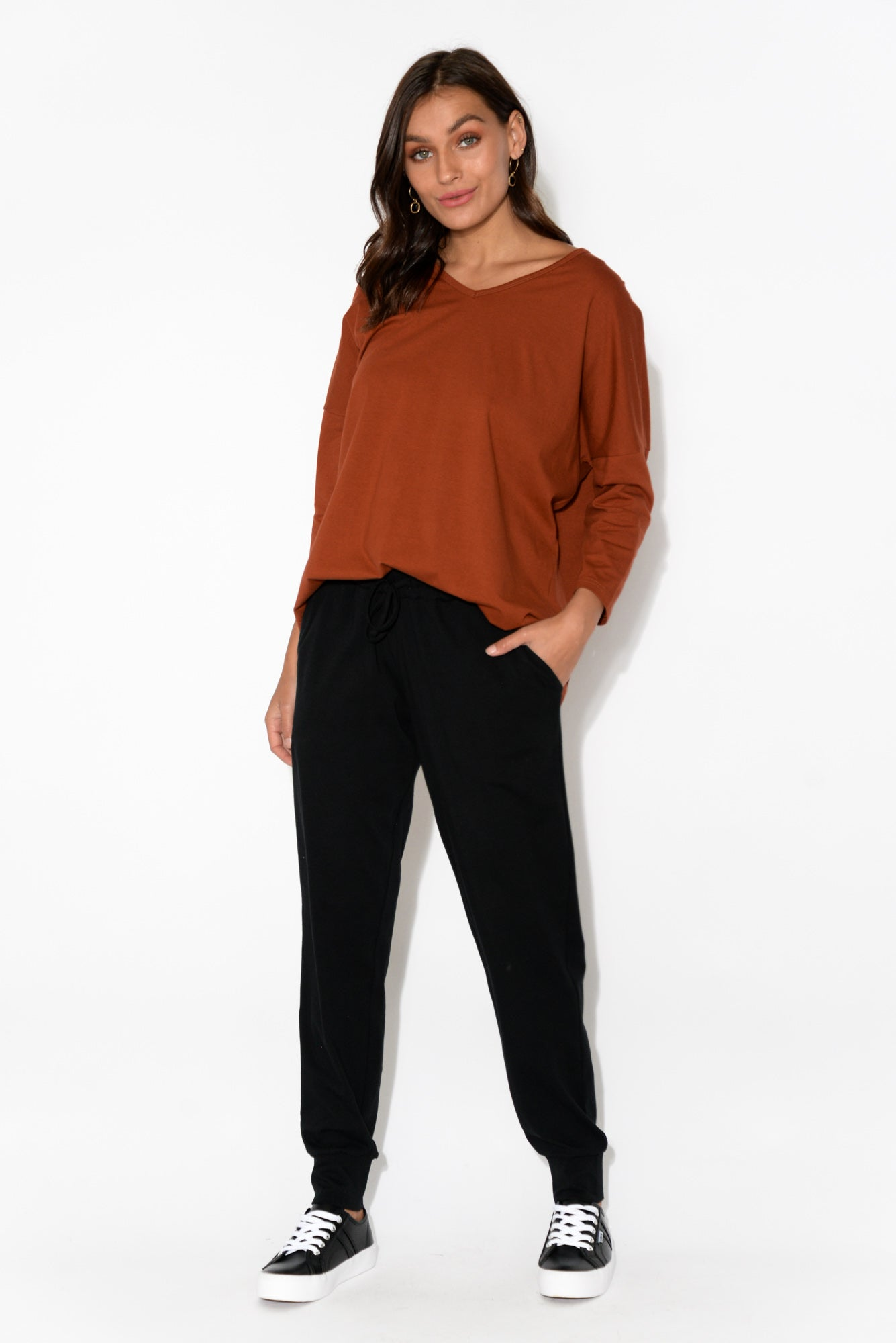 Apollo Rust Split Back Top